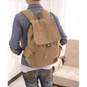 Men Rucksack Canvas Backpack Bag Leisure Shoulder