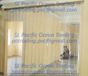 Transparent Strip Curtain Food Store