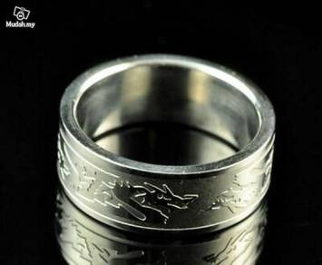 ABRSS-D006 8-Dragons 2 tone Stainless Ring Size 11