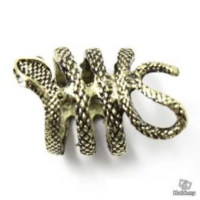 ABRB-S003 Punk Gothic Twisted Bronze Snake Ring S5