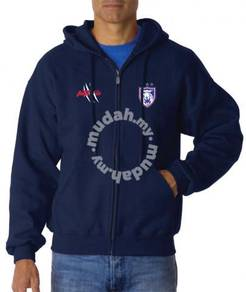 Sweater Pullover Zipper Hoody Hoodie JDT Navy Blue