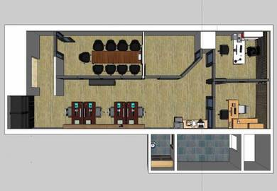 Office layout drawing service - 3d modelling