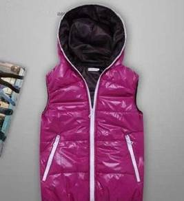 S0362 Purple Hooded Vest Winter Men Jacket Sweater