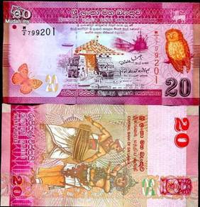 Sri lanka 20 rupees 2011 p new unc