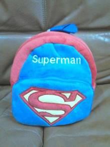 Superman bagpack 24cm wide x 24cm high