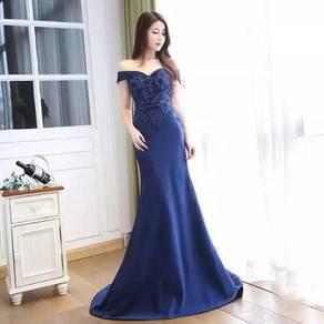 Blue fishtail wedding bridal prom dress RBP0251