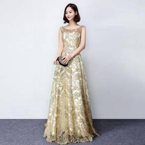 Gold glitter wedding bridal prom dress RBP0252