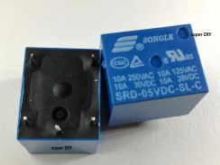 SONGLE Mini 5V DC Power Relay SRD-05VDC-SL-C