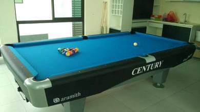9ft Century Pool Table Black Edition