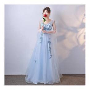 Blue wedding prom bridesmaid dinner dress RBP0255