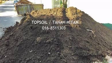 Black topsoil tanah hitam stone sand batu pasir
