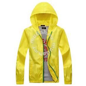 23641 Outdoor Yellow Simple Hoodie Sweater Jacket