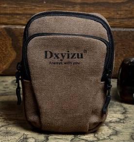 Multi-Purpose Brown Travel Arm Waist Phone Bag