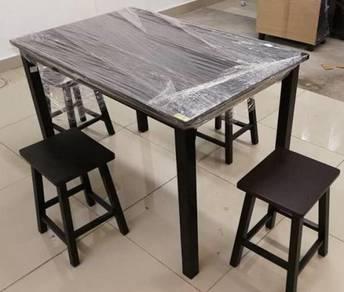 NEW Meja Makan Kayu Wooden Dining Set * M95 EK