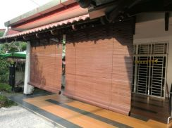 Outdoor Wooden Ready size blinds