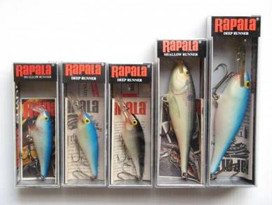 Rapala Old Shad Rap Fishing Lure Set I