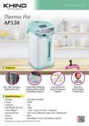 KHIND AP550 SUS304 Stainless steel THERMOPOT 5.5L