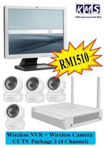 Wireless NVR + Wireless Camera CCTV (4 Channel) P2
