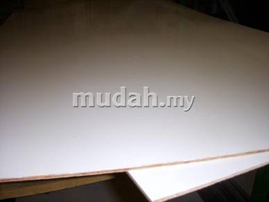 White polyster woodgrain for furniture