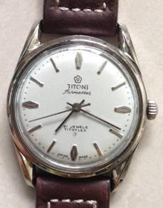 Jam Titoni Air Master steel watch