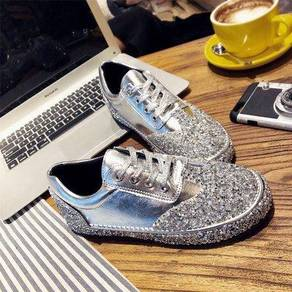 Diamond Silver black party sport shoe RBH0249