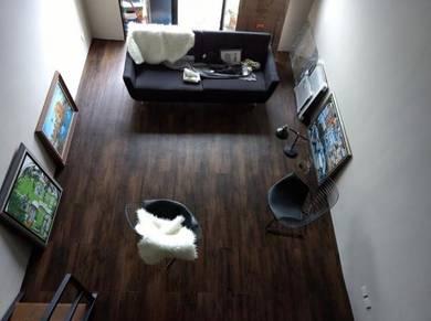 Vinyl Floor Lantai Timber Laminate PVC Floor Q76