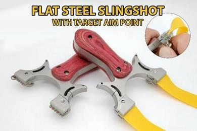 Flat Clip Outdoor Steel Slingshot I | Lastik Steel