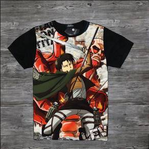 Attack on titan mikasa eren levi T-shirt