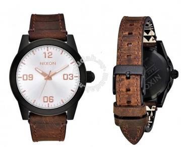 Nixon The GI Leather Watch (A933-2358)