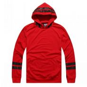 S0119 Red Hooded Pullover Merah Sweater Men Shirt