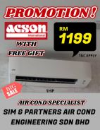 Offer 1199*acson new aircond air cond *free gift