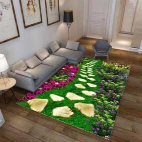 3D Modern Soft Velvet Carpet 210x160cm water proof