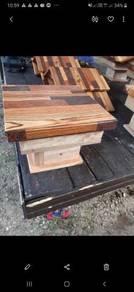 Kotak kelulut 2 lapis kayu tanpa ubat