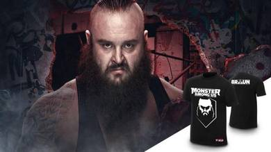 BAJU WWE T Shirts Braun Strowman Monster Among Us
