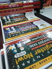 Kilang Banner , Bunting, Sticker, Signboard MURAH
