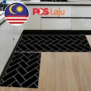 2pcs Anti-slip Bedroom Carpet Kitchen Floor Mat