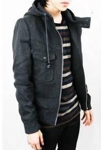 0342 Ninja Hoodie Men Sweater Winter Thick Jacket