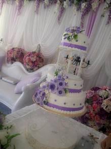 Kek 3tier cage Perkahwinan di Alor Setar