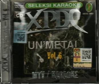 VCD XPDC Best Unmetal Vol.6 MTV Karaoke CD