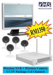 Wireless NVR + Wireless Camera CCTV (4 Channel)