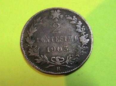 Italy 2 Centesimi 1903