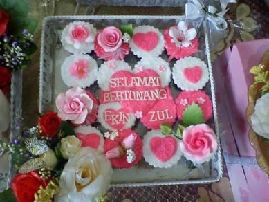 Cupcake Hantaran Perkahwinan di Alor Setar