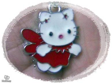 ABPSS-H003 Hello Kitty Pendant Necklace - Red