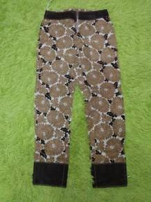 Vintage Fendi Full Over Printed Flower Zipper Pant