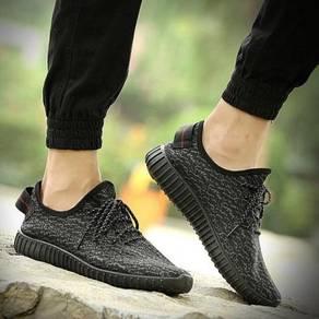 S0251 Black Retro Trend Sneakers Sport Kasut Shoes