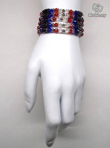 Magnetic Bracelet Bangle AM Blue Red White