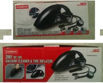 2 in 1 Vacuum Cleaner & Tyre Inflator (Vakum & Pum