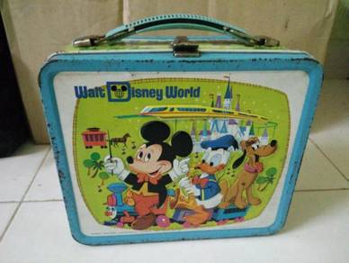 Vintage mickey waltdisney lunch box tin 70an