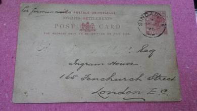 OFFER Antik Old Postcard S Settlements 1893 PS 40