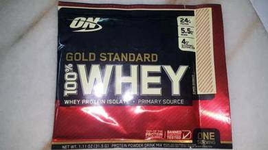 On gold standard 100% whey protein isolate build